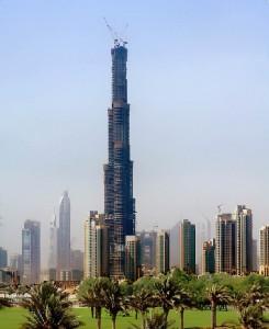 Burj Dubai, in opbouw